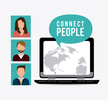 socializing: Connect people design, vector illustration eps 10. Vectores
