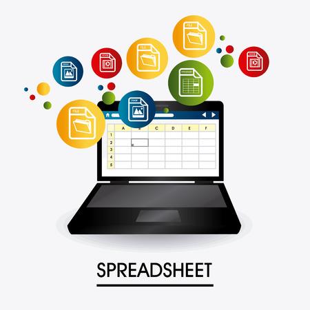 Spreadsheet digital design, vector illustration eps 10.