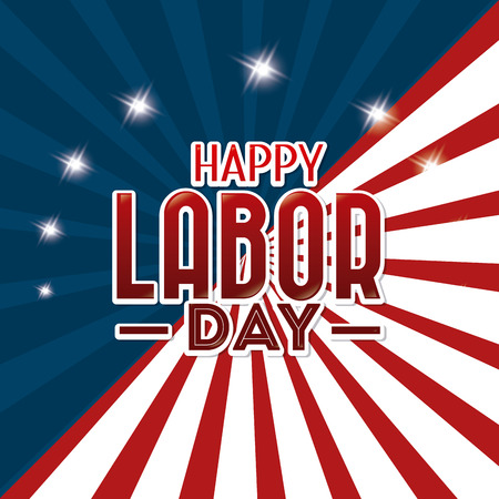 Happy labor day design, vector illustration eps 10. Çizim