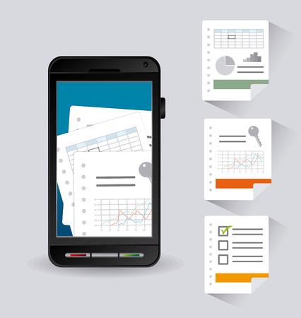 hoja de calculo: Spreadsheet digital design, vector illustration eps 10.