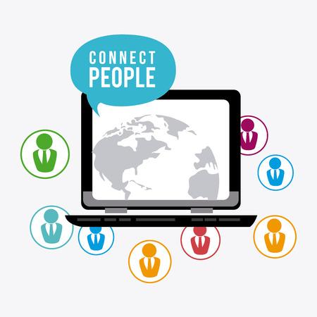 socializing: Connect people design, vector illustration eps 10. Illustration