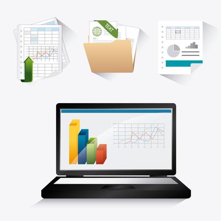 stock graph: Spreadsheet digital design, vector illustration eps 10.