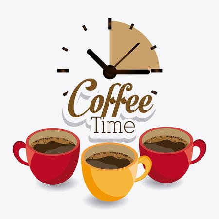 커피 타임 디자인, 벡터 일러스트 레이 션 (10)를 주당 순이익. 일러스트