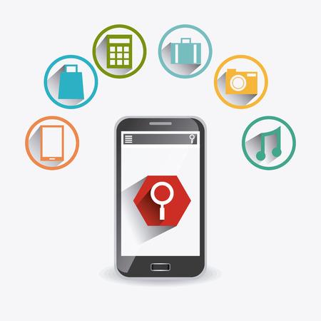 mobile apps: Mobile apps design, vector illustration eps 10. Illustration