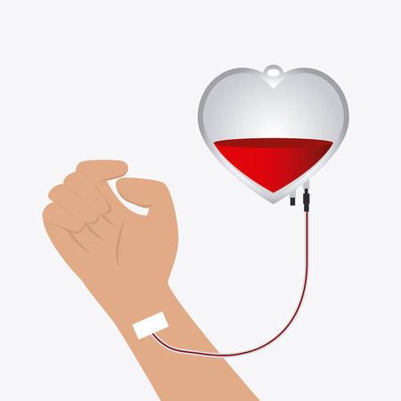 blood transfer: Blood donation design, vector illustration eps 10.