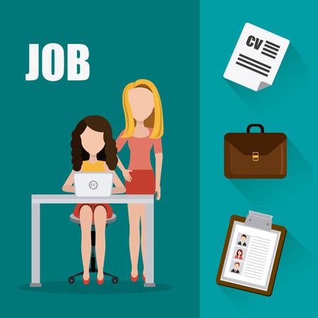 womens work: Job and work design, vector illustration eps 10. Illustration