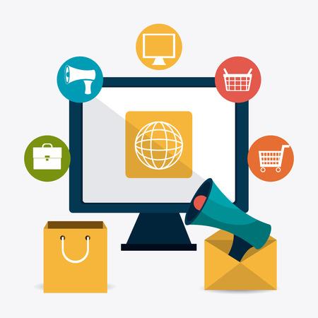 echnology: Marketing online design, vector illustration eps 10.
