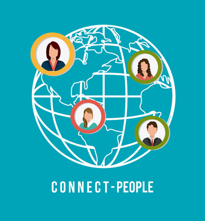 networking people: Connect people design, vector illustration eps 10. Illustration