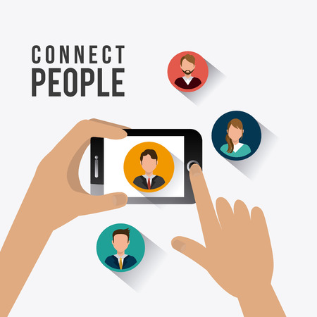 network people: Connect people design, vector illustration eps 10. Illustration