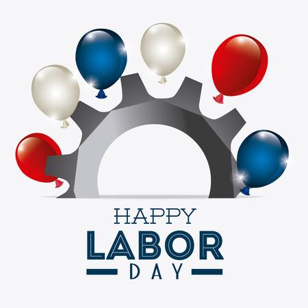 Happy labor day design, vector illustration eps 10. Vettoriali