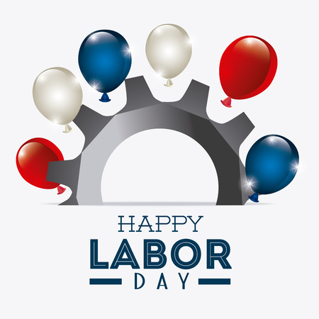 Happy labor day design, vector illustration eps 10. Stok Fotoğraf - 44052698