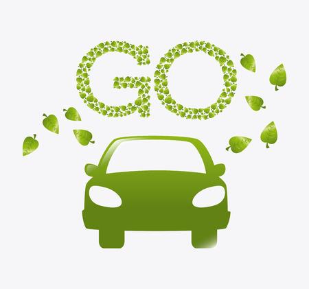 turismo ecologico: Ir diseño verde, ilustración vectorial eps 10.