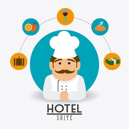 hotel service: Hotel service design, vector illustration eps 10. Illustration