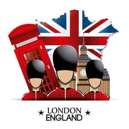 british army: UK london design, vector illustration eps 10.
