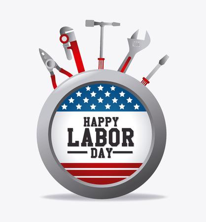 labor: Happy labor day design, vector illustration eps 10. Illustration