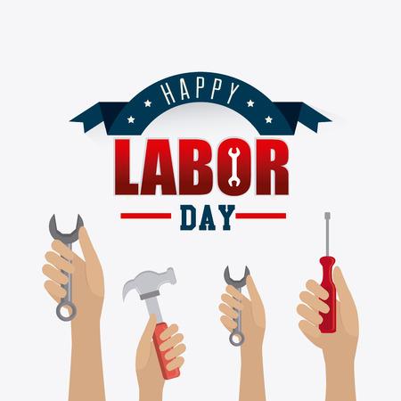 Labor day card design, vector illustration eps 10.