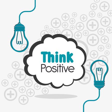 positief: Think positive design, vector illustration eps 10.