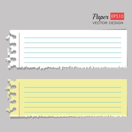 Arkusz papieru projektowania, ilustracji wektorowych EPS 10.