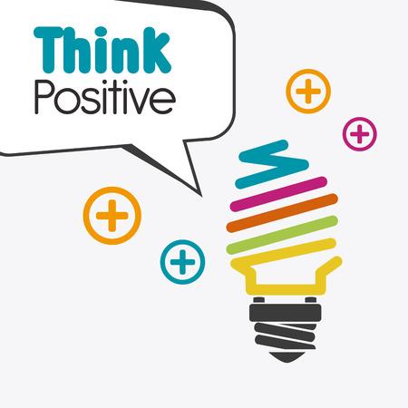 mentality: Think positive design, vector illustration eps 10.