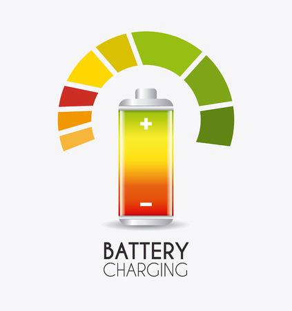 watt: Battery charging design, vector illustration eps 10.