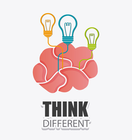 brilliant: Think different design, vector illustration eps 10. Illustration
