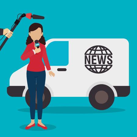 journalism: Digital journalism design, vector illustration eps 10. Illustration