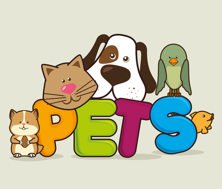 Pet shop ontwerp, vector illustratie eps 10.