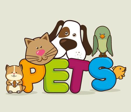 Progettazione Pet Shop, illustrazione vettoriale eps 10. Archivio Fotografico - 44071279