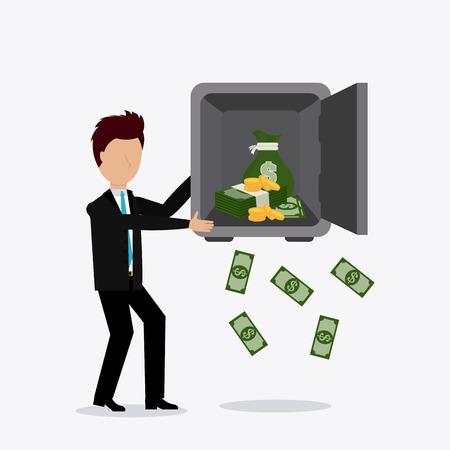 strongbox: Profit business design, vector illustration eps 10. Illustration