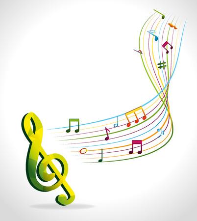 Diseño de la música, ilustración vectorial eps 10. Foto de archivo - 44070509