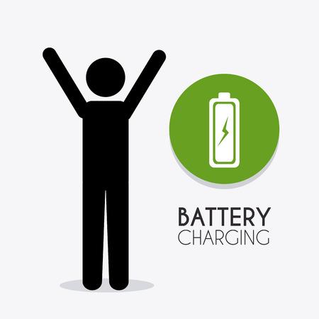 voltmeter: Battery charging design, vector illustration eps 10.