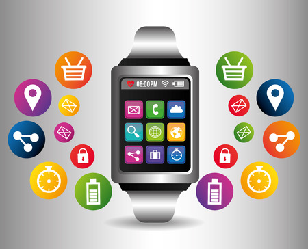 time sharing: Technology  digital design, vector illustration eps 10.