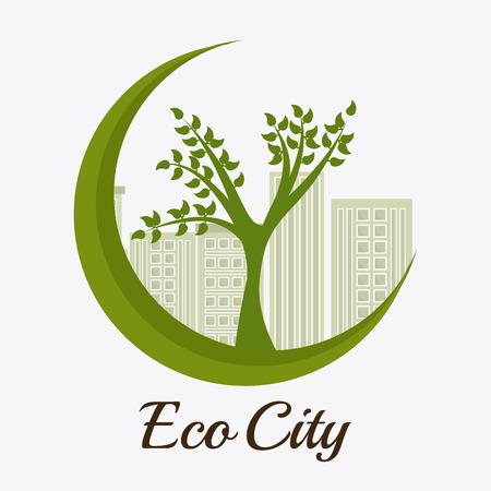 urbanization: Green city design, vector illustration eps 10. Illustration