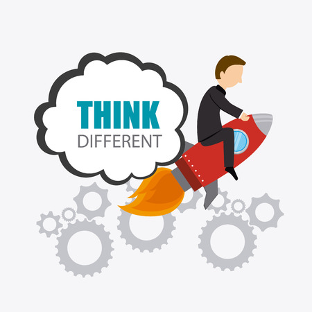 Think different design, vector illustration eps 10. Illustration