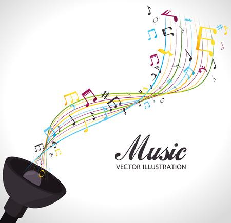 Diseño de la música, ilustración vectorial eps 10.