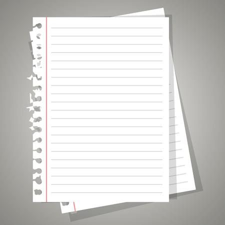 La conception de la feuille de papier, illustration vectorielle eps 10.