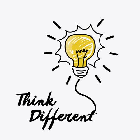 eureka: Think positive design, vector illustration eps 10.