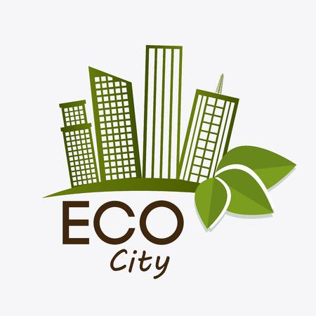 land development: Green city design, vector illustration eps 10. Illustration