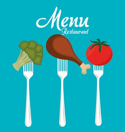 ailment: Restaurant digital design, vector illustration eps 10.