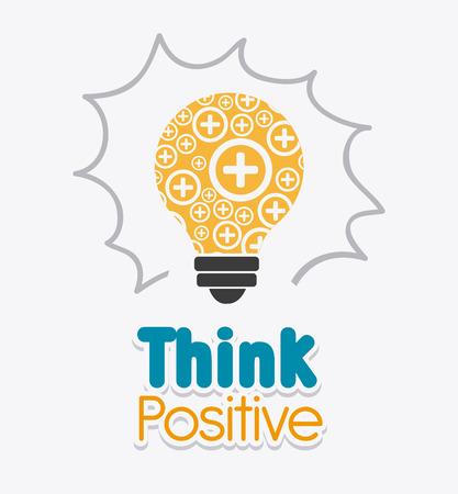 positief: Denk positief ontwerp, vector illustratie eps 10. Stock Illustratie