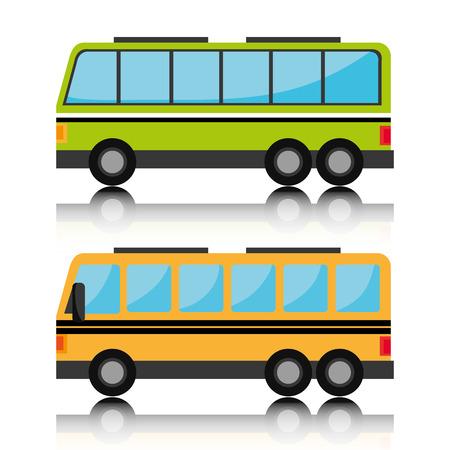 transporte escolar: Dise�o de los veh�culos de transporte, ilustraci�n vectorial eps 10.