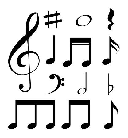 note musicali: Disegno di musica, illustrazione vettoriale eps 10. Vettoriali
