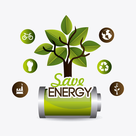 powerful: Green energy design, vector illustration eps 10.