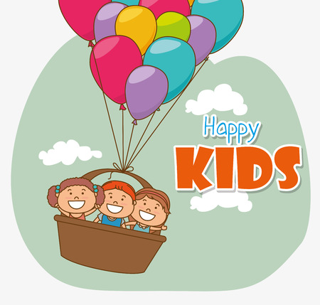 juniors: Kids digital design, vector illustration eps 10.