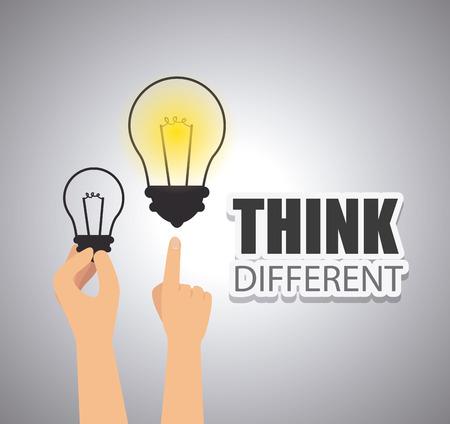 mentality: Think different design, vector illustration eps 10. Illustration