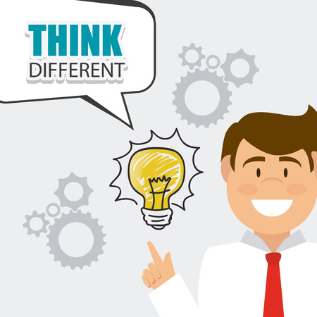 think different: Think different design, vector illustration eps 10. Illustration