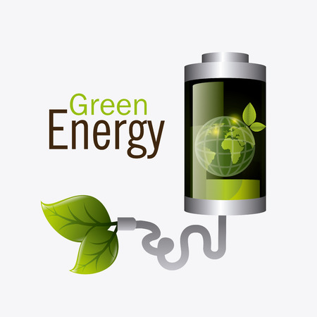 rechargeable: Green energy design, vector illustration eps 10.
