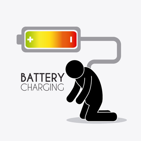 rechargeable: Battery charging design, vector illustration eps 10.