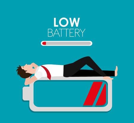 Batería de diseño de carga, ilustración vectorial eps 10.