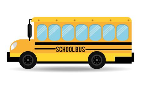 autobus escolar: Diseño de los vehículos de transporte, ilustración vectorial eps 10.